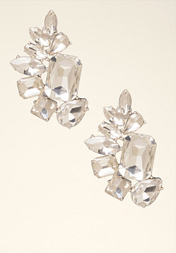 bebe Crystal Cluster Earrings���
