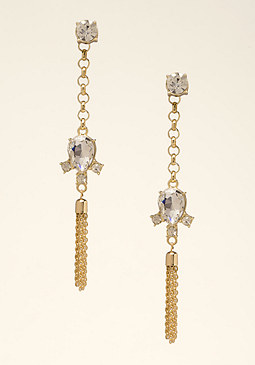 bebe Crystal & Chain Earrings