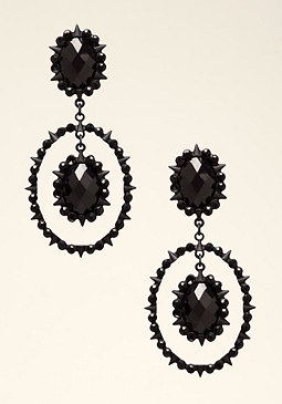 bebe Tonal Black Drop Earrings