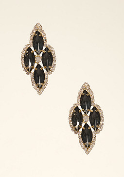 bebe Multi-Stone Pave Earrings