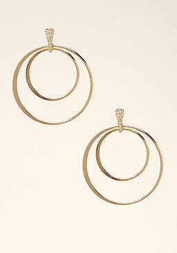 bebe Multi-Circle Hoop Earrings