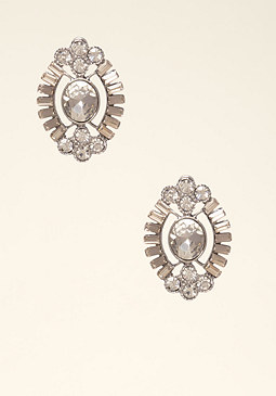 bebe Deco Crystal Stud Earrings