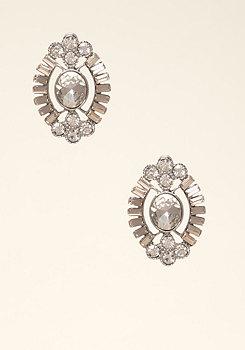 bebe Deco Crystal Stud Earrings
