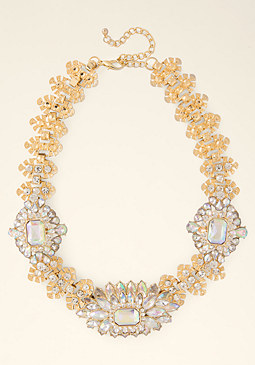 bebe Ornate Crystal Necklace