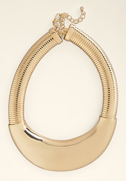 bebe Plate & Chain Necklace
