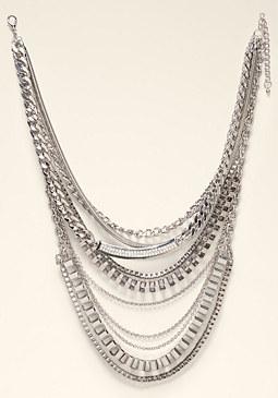 bebe Mix Chain Necklace