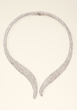 bebe Crystal Serpent Necklace