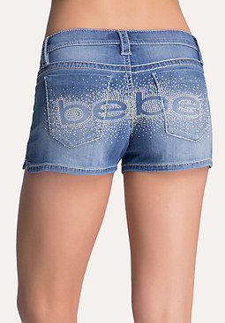 bebe Logo Stitch Shorts