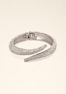 bebe Crystal Serpent Bracelet