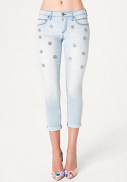 bebe Scatter Embellished Jeans