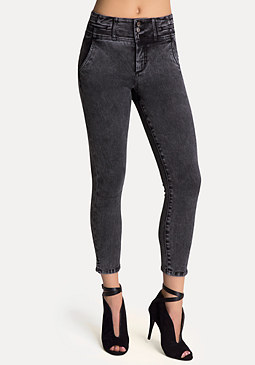 bebe High-Waist Tux Capri Pants
