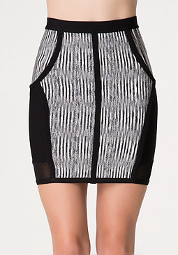 Paneled Zip Back Skirt at bebe