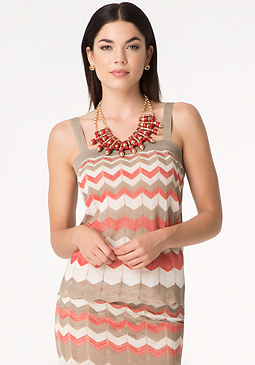 bebe Gradient Zigzag Top