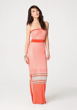bebe Mix Honeycomb Maxi Dress