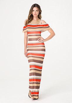 bebe Pointelle Stripe Maxi Dress