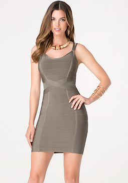 bebe Strappy X Bandage Dress