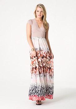 bebe Bandage 2-Fer Maxi Dress