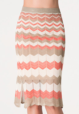 Gradient Zigzag Skirt at bebe