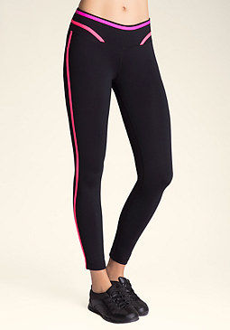 bebe Contrast Crop Leggings