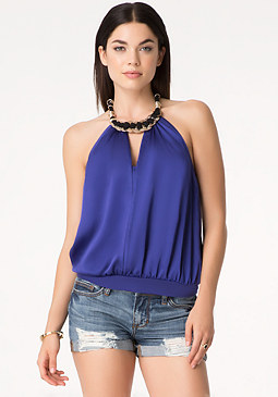bebe Coin Necklace Top
