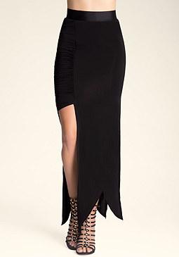 bebe Petite Crisscross Skirt