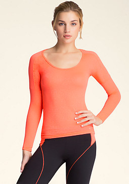 bebe Animal Mesh Workout Top