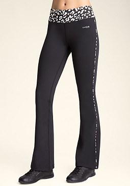 bebe Leopard Yoga Pants