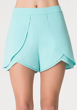 bebe Solid Dolphin Front Shorts