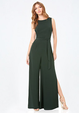 bebe Cutout Back Jumpsuit