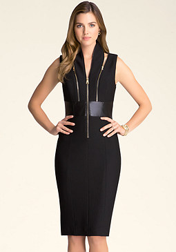 bebe Petite Izzy Zipper Dress