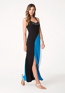 bebe Sun Striped Maxi Dress