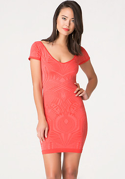 bebe Franchesca Jacquard Dress