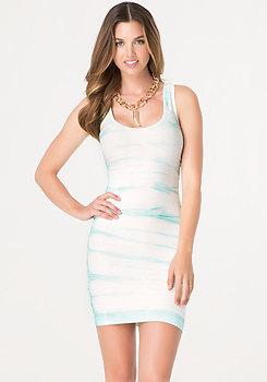 bebe Tie Dye Back Cutout Dress
