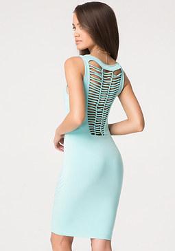 bebe Cage Back Jersey Dress