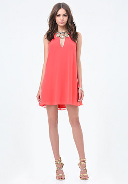 bebe Necklace Halter Dress