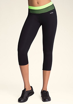 bebe Colorblock Crop Leggings