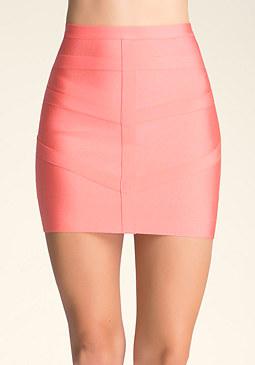 bebe Cage Trim Bandage Skirt ��