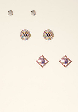 bebe Geometric Earring Set
