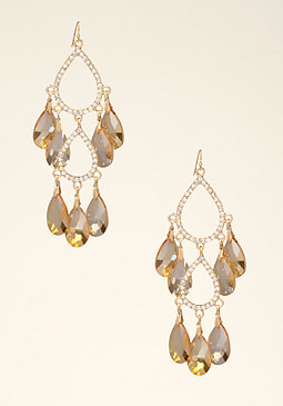 bebe Faceted Chandelier Earrings