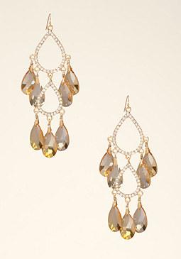 bebe Faceted Chandelier Earrings