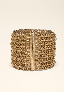 bebe Chainlink Row Bracelet