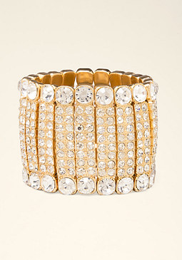 bebe Crystal Stretch Bracelet