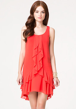 bebe Ava Ruffle Dress