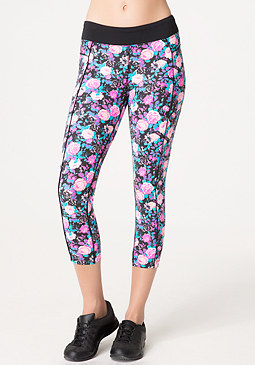 bebe Pop Floral Capri Pants