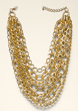 bebe Multi-Chainlink Necklace