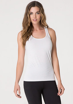 bebe Striped Workout Tank