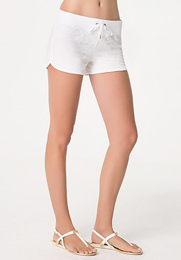 bebe Lace Overlay Shorts
