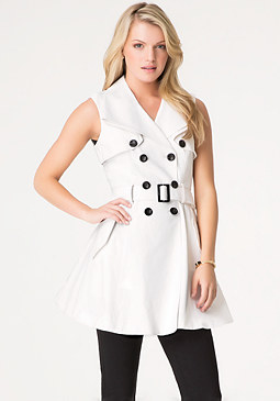 bebe Basic Sleeveless Trench