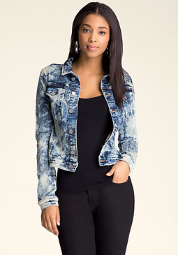bebe Denim Look Jacket
