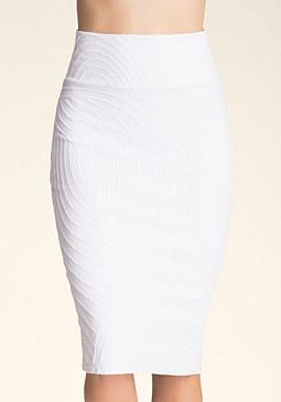 bebe Textured Midi Skirt